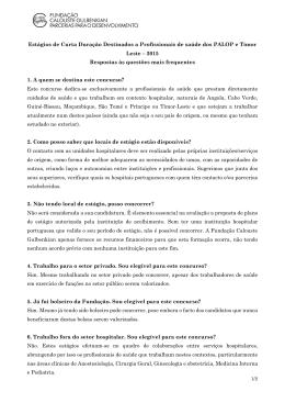 FAQ - Fundação Calouste Gulbenkian