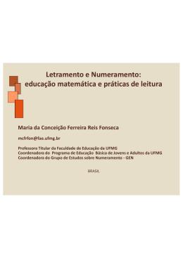 Letramento e Numeramento: educação matemática e