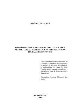 joana steil alves objetos de aprendizagem de estatística