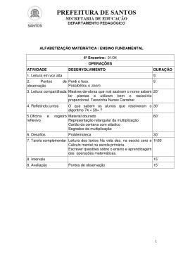ALFABETIZAÇÃO MATEMÁTICA / ENSINO FUNDAMENTAL 4º