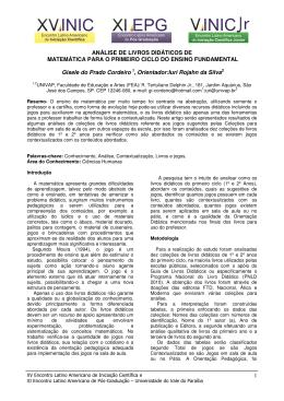análise de livros didáticos de matemática para o - INIC