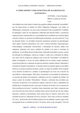 Lages/SC - UNIPLAC - 07 a 09 de dezembro de 2015 O