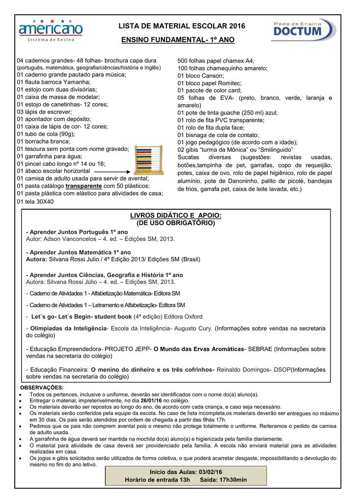 Amado 1º ano - Colégio Americano VR06