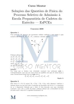 Física - EsPCEx v1.1 - Curso Mentor