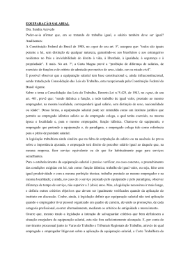 EQUIPARAÇÃO SALARIAL Dra. Sandra Azevedo Poder-se