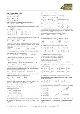 1994 - Matemática - Projeto Futuro Militar
