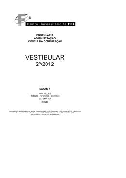 Exame1-2_2012 - Centro Universitário FEI