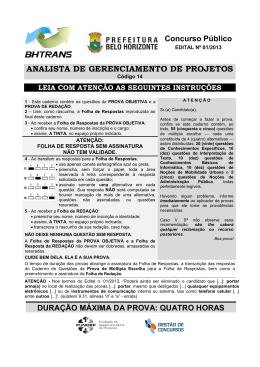 ANALISTA DE GERENCIAMENTO DE PROJETOS