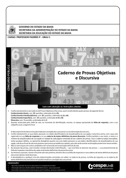 Prova - CESPE / UnB