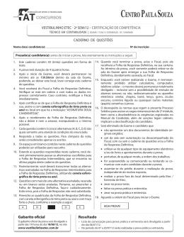Contabilidade - Vestibulinho Etec