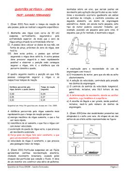 questões de física - enem prof: sandro fernandes