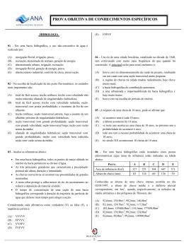 PROVA OBJETIVA DE CONHECIMENTOS ESPECÍFICOS