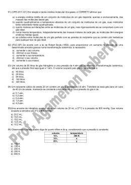10 - Química - Prof. Agamenon Roberto