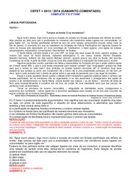 CEFET = 2013 / 2014 (GABARITO COMENTADO)