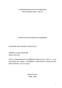 Curso Gestão Contábil de Condomínios - CRC-CE