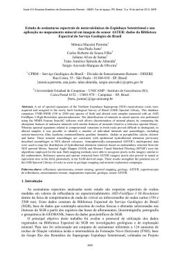 Estudo de assinaturas espectrais de metavulcânicas do Espinhaço