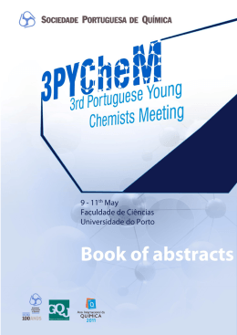 3PYCheM 3rd Portuguese Young Chemists Meeting 2012