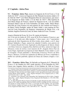 2.º Capítulo - Aleixo Paes - livro Lavradores de Montemor