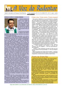 jornal novembro 2013 - Paróquia Cristo Redentor
