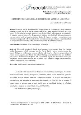 MEMÓRIA COMPARTILHADA: DO CIBERMUSEU ÀS