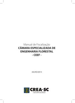 Manual de Fiscalização de Engenharia Florestal - CREA-SC