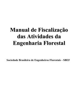 Manual de Fiscalização das Atividades da Engenharia Florestal