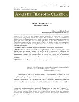 A POÉTICA DE ARISTÓTELES