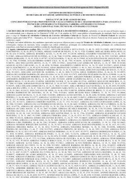 30/08/2014 - Edital nº 7 - Resultado final do concurso público
