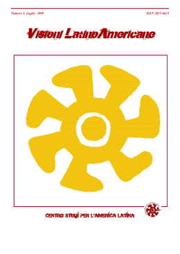 Visioni Latino Americane - Università degli Studi di Trieste