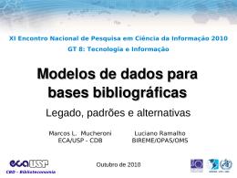 Modelos de dados para bases bibliográficas