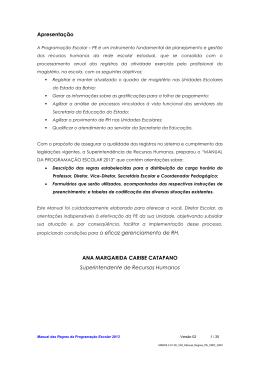 Apresentação ANA MARGARIDA CARIBE CATAPANO