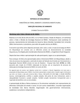 REPÚBLICA DE MOÇAMBIQUE MINISTÉRIO DA TERRA