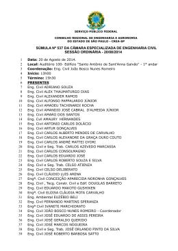 REUNIÃO ORDINÁRIA nº 537 - 20/08/2014 (Arquivo em - Crea-SP