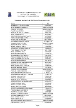 Resultado Final da Isenção da Taxa do Processo Seletivo 2013.1