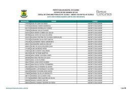 Anexo I - Lista dos Homologados (Antes dos Recursos)