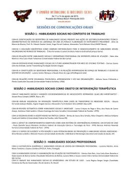sessões de comunicação oral - Universidade Federal de São Carlos