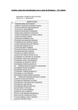 Confira a lista dos beneficiados