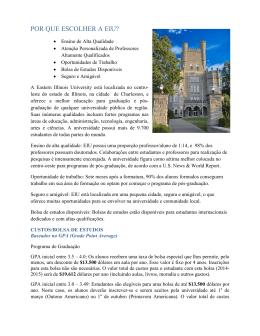 POR QUE ESCOLHER A EIU? - Eastern Illinois University