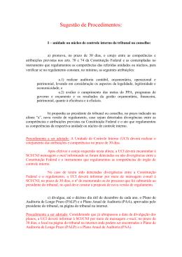 Parecer No. 2/2013-SCI/Presi/CNJ - Sugestões de Procedimentos a