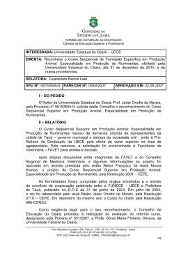 Parecer 0549/2007 - Conselho de Educação do Ceará