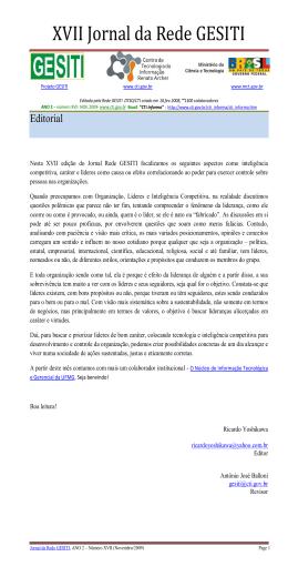 XVII Jornal da Rede GESITI