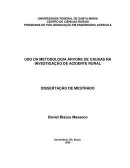 USO DA METODOLOGIA ÁRVORE DE CAUSAS NA