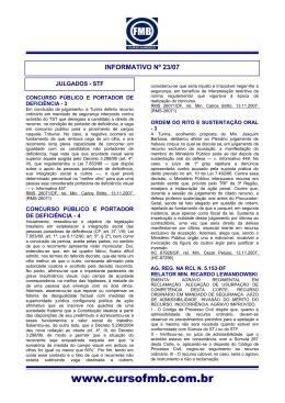 Informativo 23/07