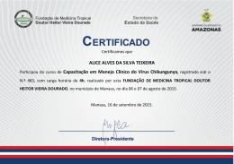 ALICE ALVES DA SILVA TEIXEIRA Participou do curso de