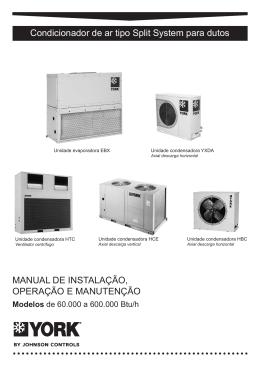Catálogo de Instalação, Operação e Manutenção