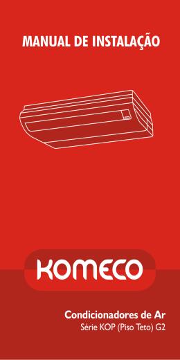 Manual do Usuário Piso Teto Komeco