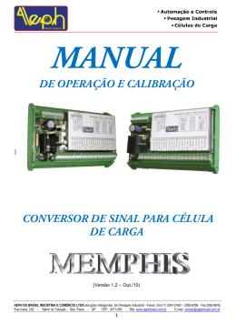 de operação e calibração conversor de sinal para célula de carga