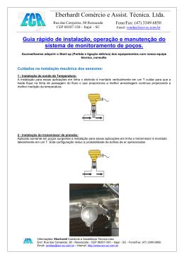 Manômetros Indústriais - ecr
