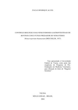 PAULO HENRIQUE ALVES CONTROLE BIOLÓGICO DAS
