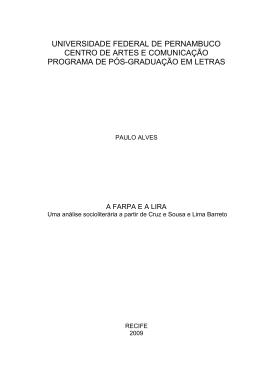 universidade federal de pernambuco centro de artes e comunicação